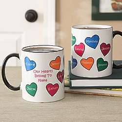 Our Hearts Belong to You Personalized Coffee Mug