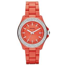 Retro Traveler Resin Watch in Coral