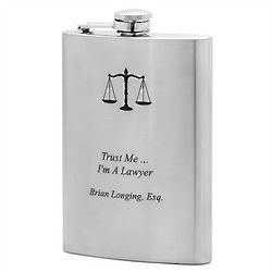 Legal Scales of Justice Flask