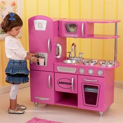 Personalized Bubblegum Pink Kid's Kitchen Playset