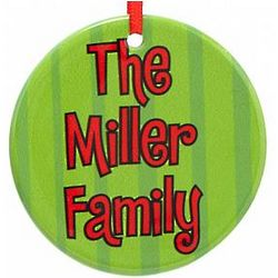 Personalized Message Funky Ceramic Ornament