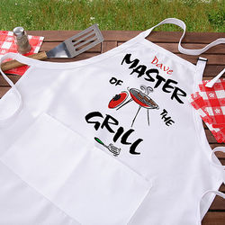 Master of the Grill Personalized BBQ Apron