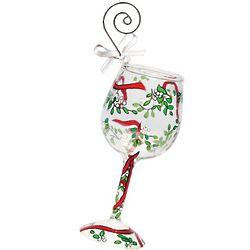 Lolita Kiss Me Mini Wine Glass Ornament