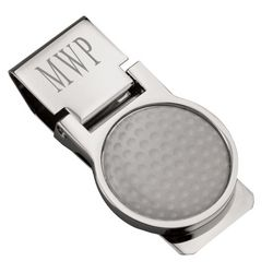 Engraved Golf Ball Money Clip