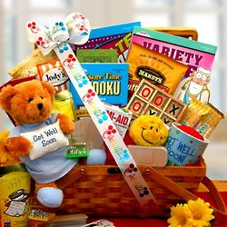 Get Well Soon Games and Treats Gift Basket