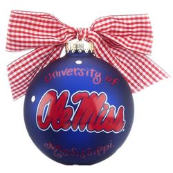 Personalized University of Mississippi Logo Christmas Ornament