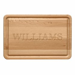 Personalized Rectangle Wood Cutting Board