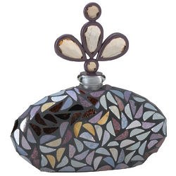 Glass Mosaic Perfume Bottle with Stopper