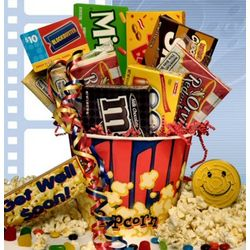 Get Well Rave Review Movie Gift Basket