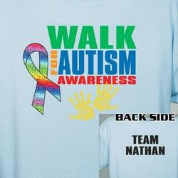 Walk for Autism Awareness Personalized T-Shirt