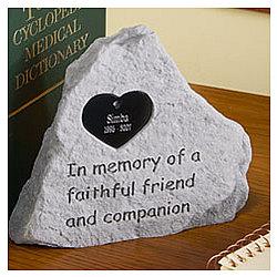 Personalized Pet Memorial Stone