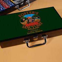 Personalized Sportsman Design Poker Set