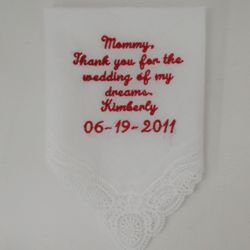 Wedding of my Dreams Personalized Handkerchief