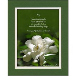 Friend or Family Poem Personalized Gardenia Print