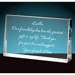 Personalized Crystal Keepsake Plaque