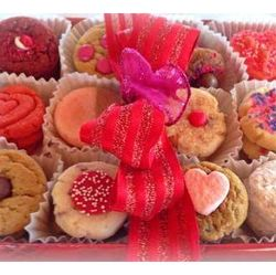 Valentine Red Cookie Sampler Gift Box