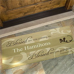 Personalized You Are Blessed Oversized Doormat