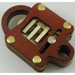 Wooden Lock Brain Teaser Puzzle