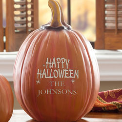 Personalized Happy Halloween Pumpkin