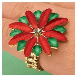 Poinsettia Stretch Ring