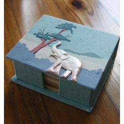 Mr. Ellie Pooh Elephant Poo Paper Note Box