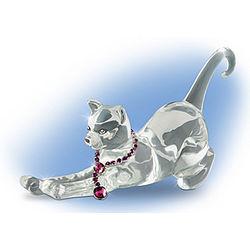 Ruby Feline Figurine