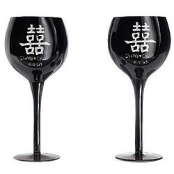 Personalized Chinese Love Wine Glasses with Date