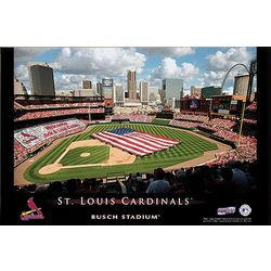 Personalized 24x36 St. Louis Cardinals Stadium Canvas