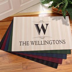 Elegant Monogram Personalized Doormat