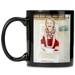 Black 11 Ounce Personalized Photo Mug