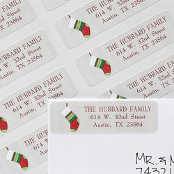 Christmas Stocking Personalized Holiday Address Labels