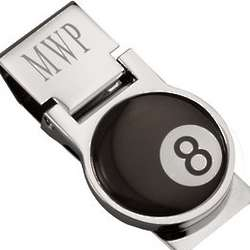 8 Ball Personalized Money Clip