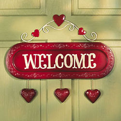 Valentine Welcome Sign