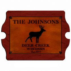 Deer Personalized Vintage Cabin Pub Sign