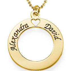 Gold-Plated Circle of Love Necklace