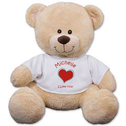 Personalized Heart Plush Bear