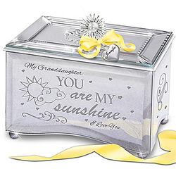 My Granddaughter You Are My Sunshine Mirrored Music Box