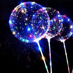 3 Bobo Light Up LED Balloons