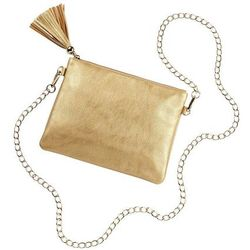 Gold Kendall Vegan Leather Purse