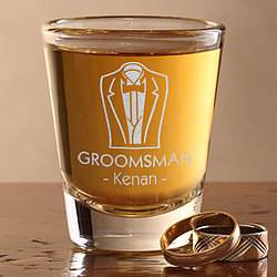 Personalized Wedding Party Shot Glass