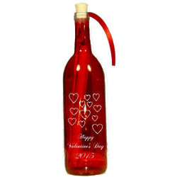 2016 Engraved Hearts Valentine's Day Message In A Bottle