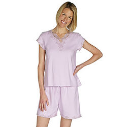Lavender Lovely Lace Cotton Short Set