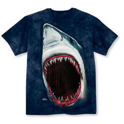 Oversized Print Shark Bite T-Shirt