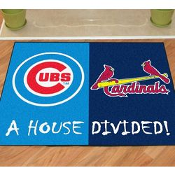 Chicago Cubs/St. Louis Cardinals House Divided FanMat