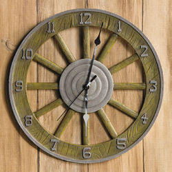 Wagon Wheel Clock
