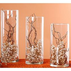 Glass Cylinder Centerpiece Vase