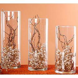 Glass Cylinder Centerpiece Vase