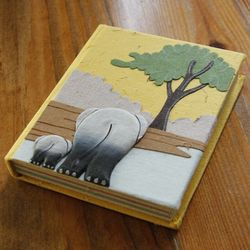 Elephant Poo Paper Mini Journal