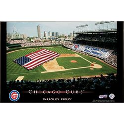 Personalized 16x24 Chicago Cubs Stadium Canvas