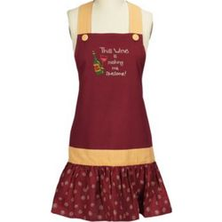 Red and Yellow Awesome Wine Apron
